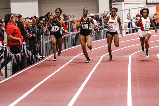 28 FEB 2015: The Mountain West Indoor Track and Field Championship held at the Albuquerque Convention Center in Albuquerque, NM. (Juan Labreche/NCAA)
