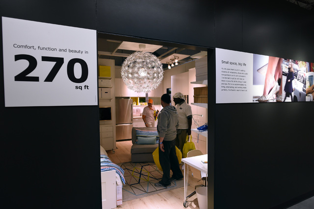Some of the first shoppers tour the store during the grand opening of Nevada's first IKEA home furnishings store Wednesday, May 18, 2016.  (Sam Morris/Las Vegas News Bureau)