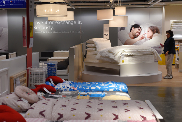 Crowds swarm new ikea store in las vegas on opening day las vegas review journal Morris home furniture outlet