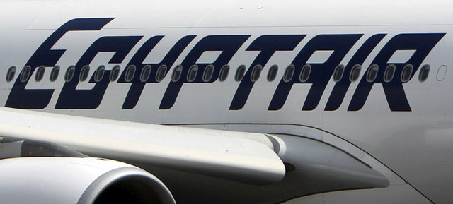 An EgyptAir plane is seen on the runway at Cairo Airport, Egypt in this September 5, 2013 file photo.(Mohamed Abd El Ghany/Reuters)