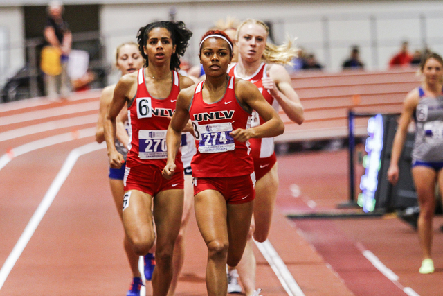 The Mountain West Indoor Track and Field Championship held at the Albuquerque Convention Center in Albuquerque, NM. (Juan Labreche/NCAA)