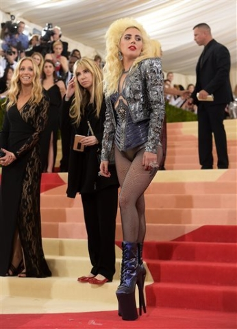 "Lady Gaga  arrives at The Metropolitan Museum of Art Costume Institute Benefit Gala, celebrating the opening of ""Manus x Machina: Fashion in an Age of Technology"" on Monday, May  ..."