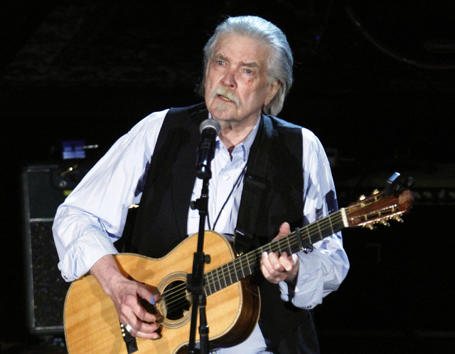 Guy Clark performs at the 11th annual Americana Honors & Awards in Nashville, Tenn., Sept. 12, 2012. Clark, died Tuesday, May 17, 2016, at his home in Nashville. He was 74. (Wade Payne/Invisio ...