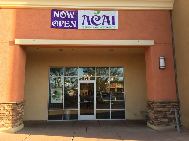 The exterior of Acai to the T, 5635 Centennial Center Blvd. Suite 110, is seen on May 12, 2016 Sandy Lopez/View