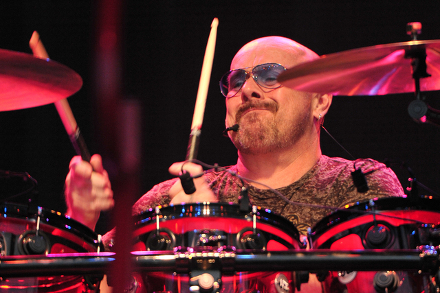 Drummer Jason Bonham performs with Sammy Hagar & The Circle on July 3, 2015, in Naperville, Illinois. (Photo by Rob Grabowski/Invision/AP)