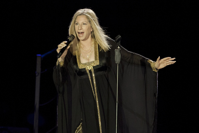 Barbra Streisand performs during her concert in Tel Aviv, Israel, June 20, 2013. The singer will perform Aug. 6 at T-Mobile Arena in Las Vegas. (Dan Balilty/AP)