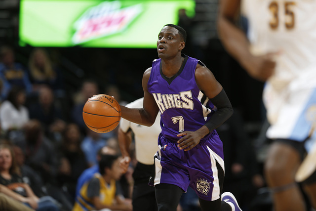 Sacramento Kings guard Darren Collison (7) in the first half of an NBA basketball game Saturday, April 2, 2016, in Denver. (David Zalubowski/AP)