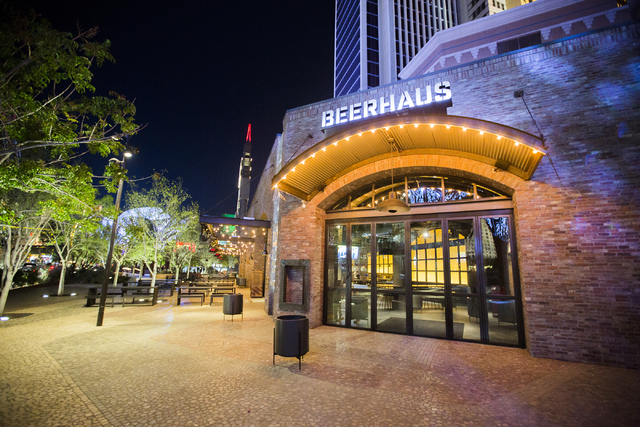 The Beerhaus in The Park is seen Wednesday, March 23, 2016. (Jeff Scheid/Las Vegas Review-Journal Follow @jlscheid)
