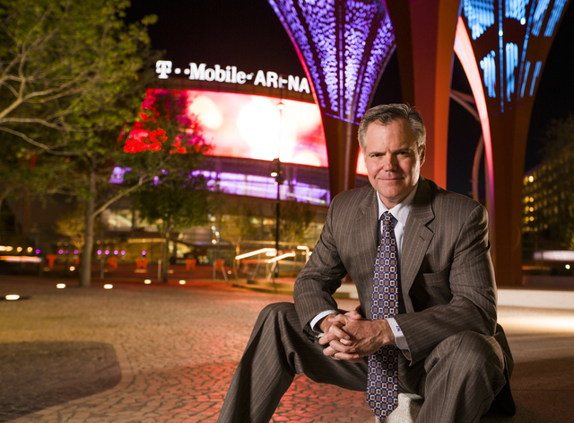 MGM Resorts International Chairman and CEO Jim Murren sits for a photo at The Park near T-Mobile Arena on Wednesday, March 23, 2016. Jeff Scheid/Las Vegas Review-Journal Follow @jlscheid