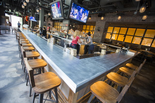 Interior of the  Beerhaus is seen during a grand opening party at The Park on Monday, April 4, 2016.  Jeff Scheid/Las Vegas Review-Journal Follow @jlscheid