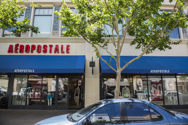 The exterior of the clothing chain Aeropostale is shown at Town Square, 6611 Las Vegas Blvd. South, in Las Vegas on Wednesday, May 4, 2016. Martin S. Fuentes/Las Vegas Las Vegas Review-Journal