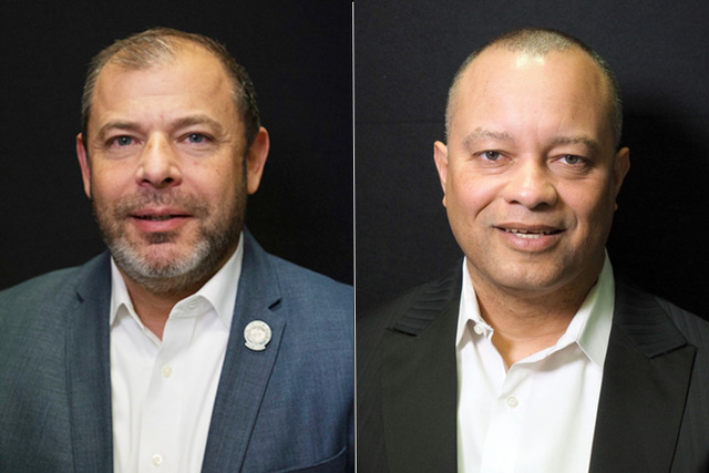 Candidates for state assembly district 13, from left, Republicans Paul Anderson (incumbent) and Steve Sanson. Not pictured is Leonard Foster, also a Republican. (Las Vegas Review-Journal)
