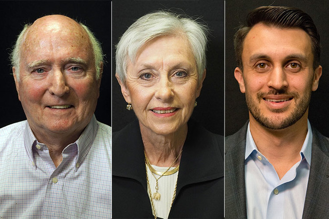 Candidates for state assembly district 41, from left, Democrats Paul Aizley and Republicans Mary Rooney, Nick Phillips. Not pictured is Sandra Jauregui, also a Democrat. (Las Vegas Review-Journal)