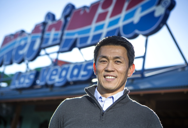 Takuya Ohki, general manager of Wet 'n' Wild Las Vegas, 7055 S. Ft. Apache Road, stands for a photo, Jan. 14, 2015. Jeff Scheid/View file photo