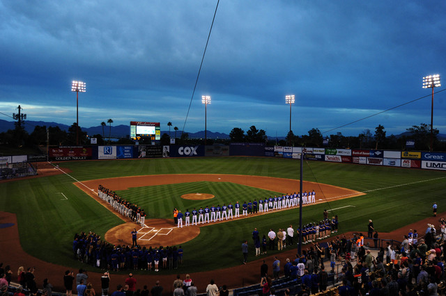 Cashman Field is seen before the start of a Triple-A minor league baseball game between the Fresno Grizzlies and the Las Vegas 51s at Cashman Field in Las Vegas Thursday, April 7, 2016. Josh Holmb ...