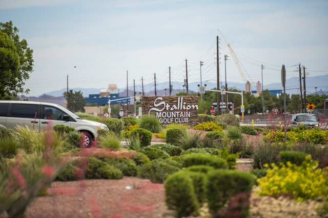 The entrance of Stallion Mountain Golf Club in Las Vegas is shown on Friday, May 20, 2016. Joshua Dahl/Las Vegas Review-Journal