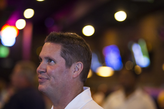 UNLV basketball assistant coach Eric Brown attends a meet and greet at Born and Raised in Las Vegas on Tuesday, May 17, 2016. Chase Stevens/Las Vegas Review-Journal Follow @csstevensphoto