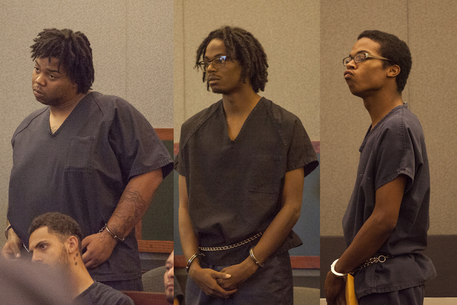 Murder case against three men to be presented to a grand jury (Michael Quine/Las Vegas Review-Journal)