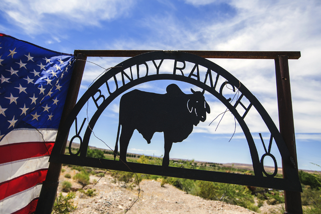 A Bundy Ranch sign near Bunkerville, Nev. greets visitors on Thursday, May 19, 2016. Jeff Scheid/Las Vegas Review-Journal Follow @jlscheid