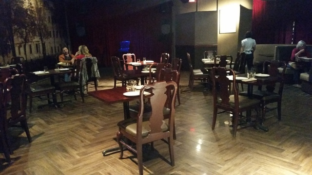 The dining room is shown at Cafe Mayakovsky, 1775 E. Tropicana Ave., Suite 30. Lisa Valentine/View