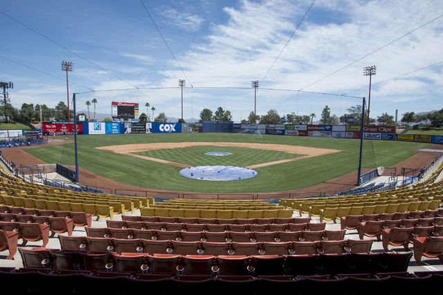 Cashman Field in Las Vegas seen on Wednesday, May 4, 2016. Las Vegas City Council unanimously voted to accept the transfer of Cashman Field from the Las Vegas Convention and Visitors Authority to  ...