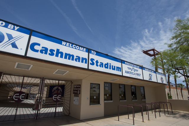 The exterior of Cashman Field in Las Vegas seen on Wednesday, May 4, 2016. Las Vegas City Council unanimously voted to accept the transfer of Cashman Field from the Las Vegas Convention and Visito ...