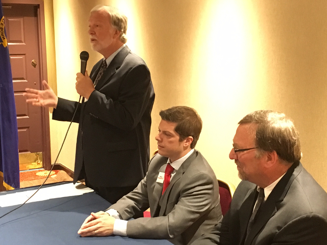Democratic candidates running in the June 14 primary for the chance to challenge GOP Rep. Mark Amodei in the 2nd Congressional District in November attended a candidate forum on Monday, May 2, 201 ...
