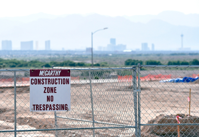 A new elementary school is seen under construction Monday, May 23, 2016, in Henderson. Newly released U.S. Census data puts Las Vegas in the 28th most populous spot among American cities. David Be ...