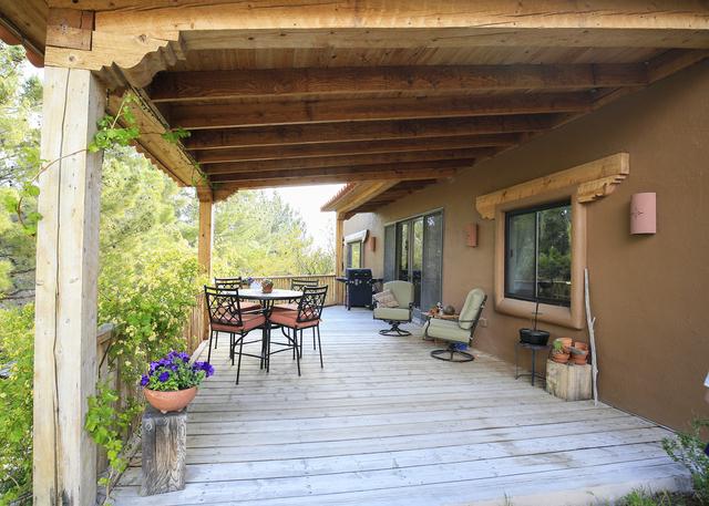The Blue Diamond house has a porch out back. (ELKE COTE/MILLIONS)