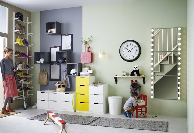 COURTESY IKEA Ikea's Nordli chest and dresser can be configured in multiple ways.