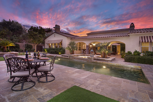 The 3,936-square-foot, Tuscan-style residence at 11856 Brigadoon Drive in Southern Highlands is listed for $1,350,000. (Synergy, Sotheby's International Realty)
