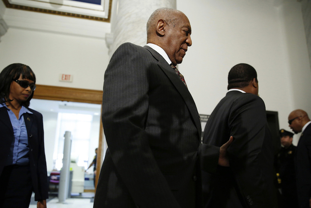 Comedian Bill Cosby arrives at the Montgomery County Courthouse for a preliminary hearing related to assault charges, May 24, 2016, in Norristown, PA. (DOMINICK REUTER/AP)