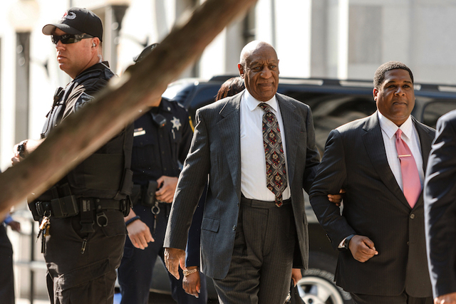 Bill Cosby arrives for a preliminary hearing on whether prosecutors have enough evidence to put him on trial on charges he drugged and sexually assaulted a woman over a decade ago, at the Montgome ...