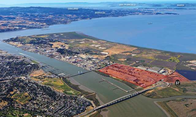 The proposed site of a Faraday Future car plant on Mare Island in Vallejo, California. (Courtesy of city of Vallejo)