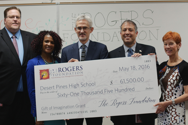 Desert Pines High School received $61,500 from the Rogers Foundation. (Courtesy)