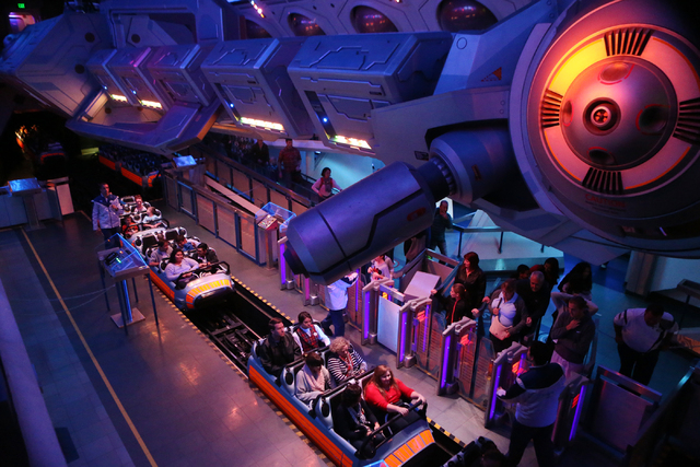 Space Mountain at Disneyland is seen on Wednesday, Dec. 23, 2015 in Anaheim, Calif. Erik Verduzco/Las Vegas Review-Journal Follow @Erik_Verduzco