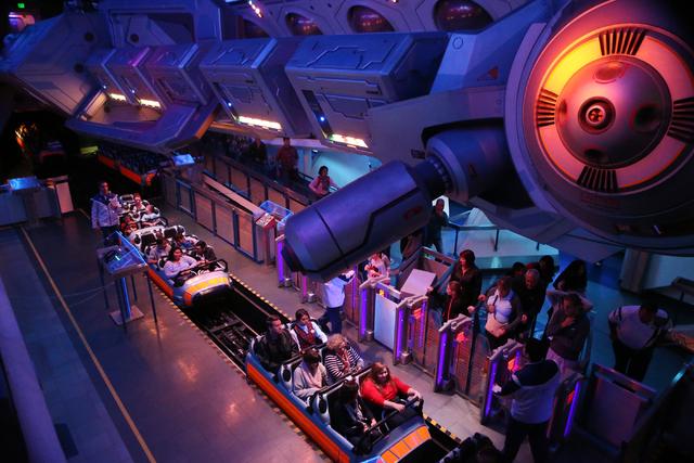 Space Mountain at Disneyland is seen on Wednesday, Dec. 23, 2015 in Anaheim, Calif. Erik Verduzco/Las Vegas Review-Journal Follow @Erik_Verduzco