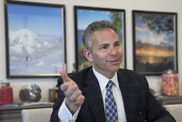 """David Weinreb, CEO of the Howard Hughes Corp., discusses the Downtown Summerlin project, Wednesday, May 25, 2016, in Las Vegas. """"People enjoy working, playing and eating in an urban envir ..."""