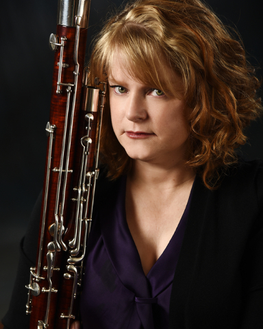 """Janis McCay wrote the history of support musicians on the Strip, and plays bassoon in """"ShowStoppers,"""" now is the rare Las Vegas show with a live orchestra. (Courtesy)"""