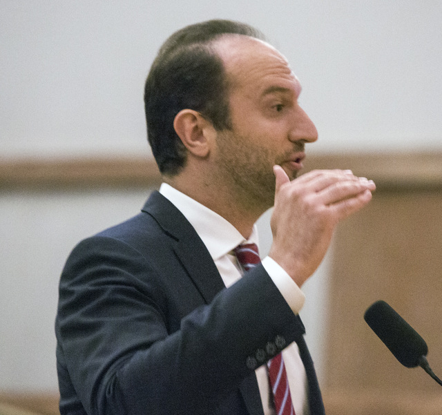 """Craig """"Torbull"""" Levine, CEO of Electronic Sports League, speaks during the Gaming Policy Committee meeting to discuss e-sports at the Clark County Commission chambers, 500 S. Gra ..."""