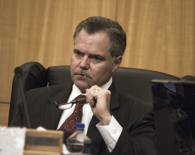 Gaming Policy Committee member Jim Murren, CEO of MGM Resorts International, during meeting to discuss e-sports at the Clark County Commission chambers, 500 S. Grand Central Pkwy. on Friday, May 1 ...