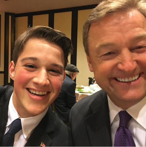 Ryder Haag is shown at a Republican luncheon with U.S. Sen. Dean Heller, R-Nev. (Courtesy)