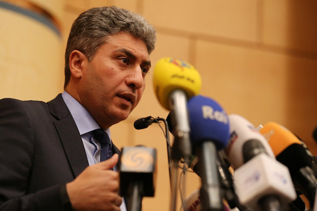 Egypt's Civil Aviation Minister Sherif Fathy speaks, after an EgyptAir plane vanished from radar en route from Paris to Cairo, during a news conference at headquarters of ministry in Cairo, Egypt  ...