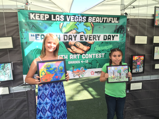 City of Las Vegas' Keep Las Vegas Beautiful program, held in conjunction with the Clark County School District School-Community Partnership Program, Star Nursery and Republic Services of Souther ...