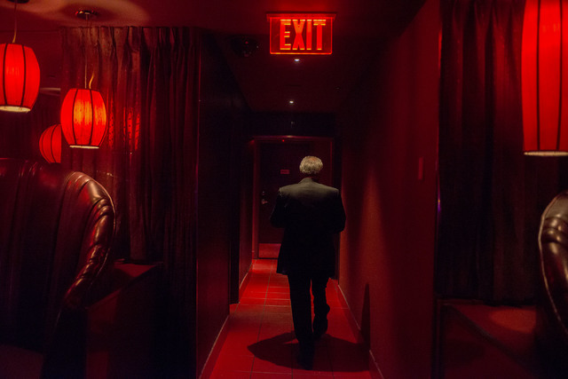 General manager Rudy Nino heads to his office in the back of the Girls of Glitter Gulch in downtown Las Vegas on May 24, 2016. Bridget Bennett/Las Vegas Review-Journal Follow @bridgetkbennett