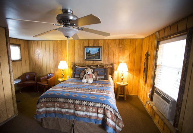 An interior view of a room at Cowboy Country Inn is seen on Saturday, April 16, 2016 in Escalante, Utah. Jeff Scheid/Las Vegas Review-Journal Follow @jlscheid