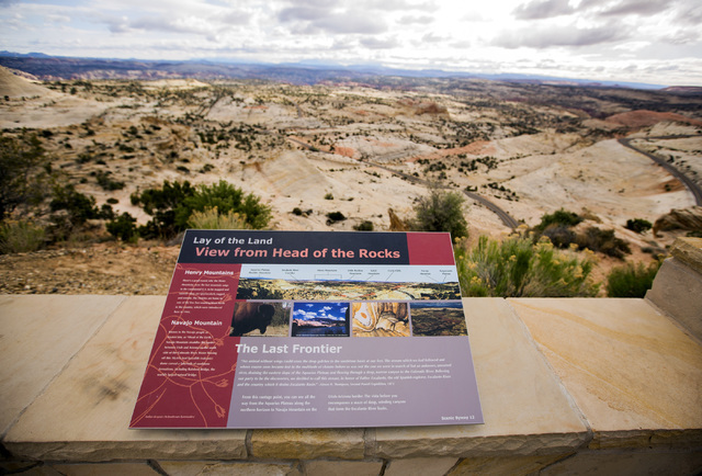 Panoramic view of Grand Staircase-Escalante National Monument  is seen Sunday, April 17, 2016. Jeff Scheid/Las Vegas Review-Journal Follow @jlscheid