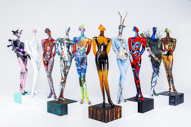 The Madison Army is the artwork that was created by local artists to be auctioned during ArtLIVE!, a charity event combining fashion and art in a showcase to benefit the Las Vegas Fashion Council  ...