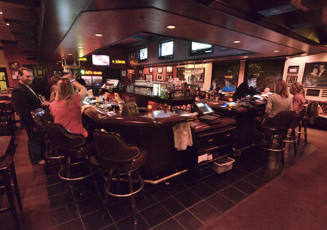 The bar area is shown at the Bootlegger Bistro at 7700 Las Vegas Blvd. South May 13, 2016. Bill Hughes/View