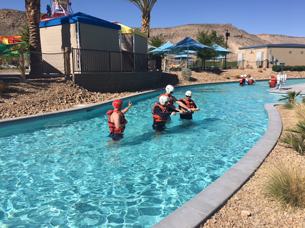 On April 15, Wet'n'Wild Las Vegas, 7055 S. Fort Apache Road, hosted dozens of Clark County Fire Department firefighters for a swift water training exercise. Firefighters utilized the park's Lazy R ...